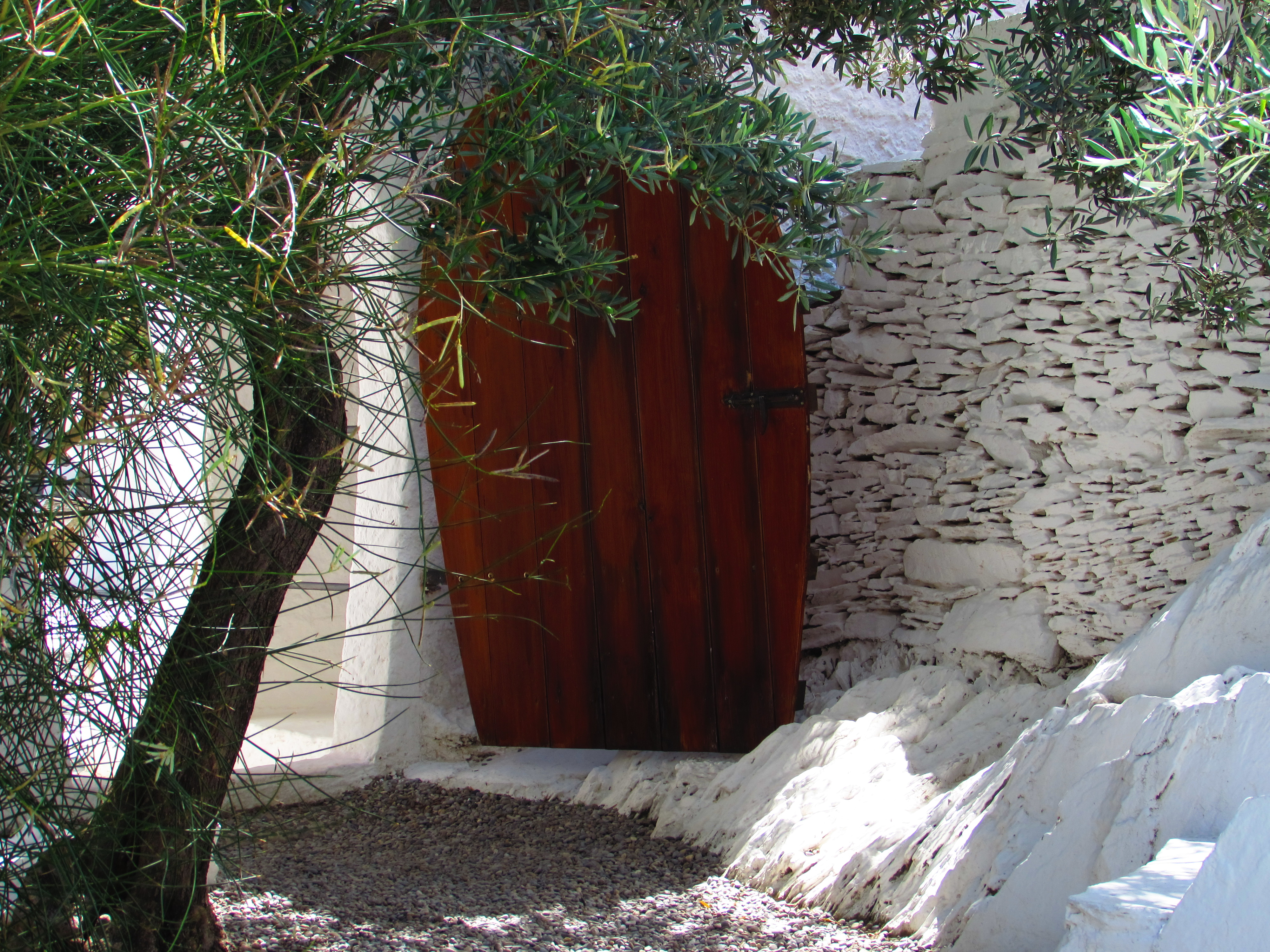 A beautiful door placed in the stone