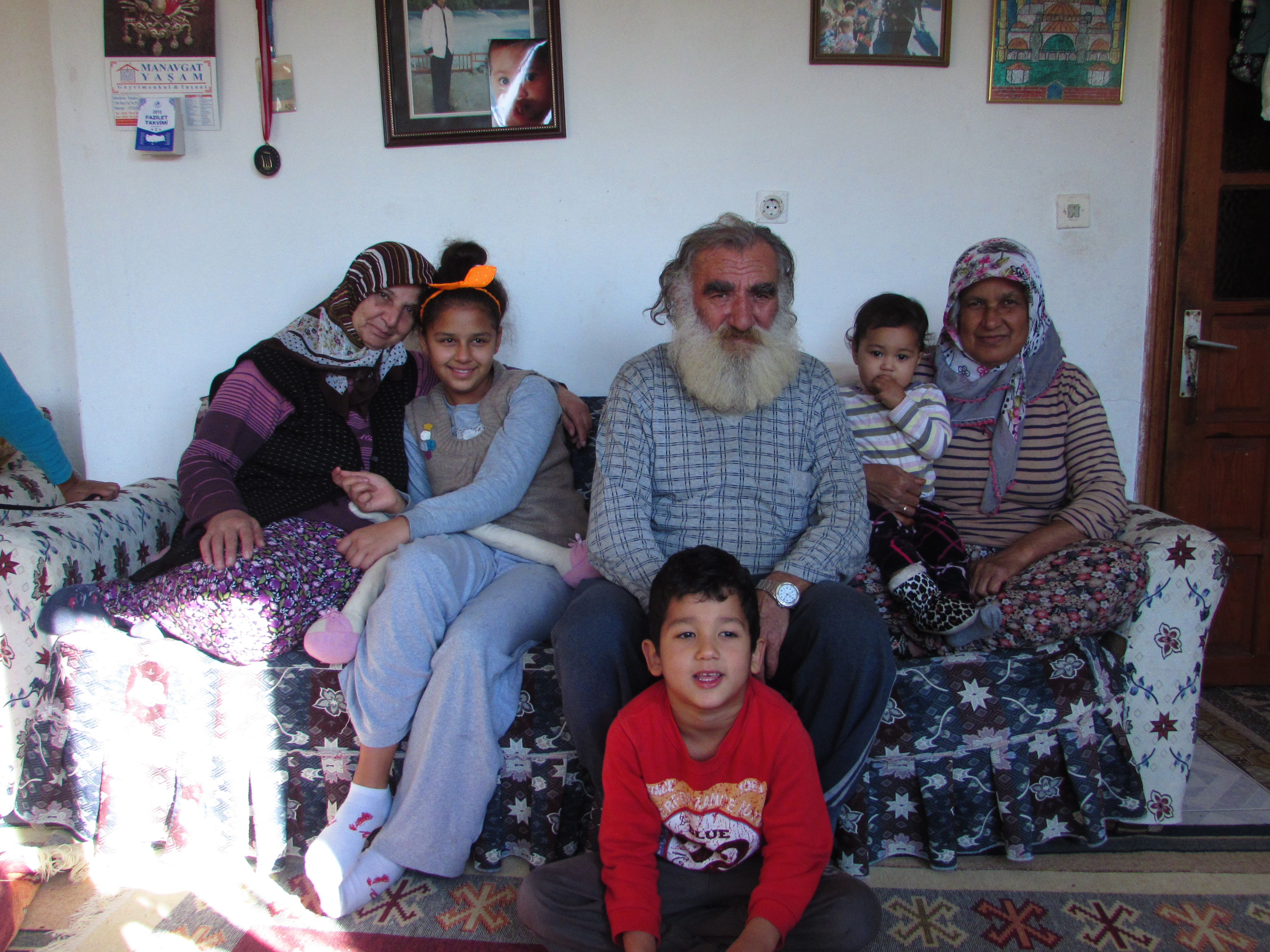A family who took us in from the rain after finding us setting up camp on the side of the road in Manavgat