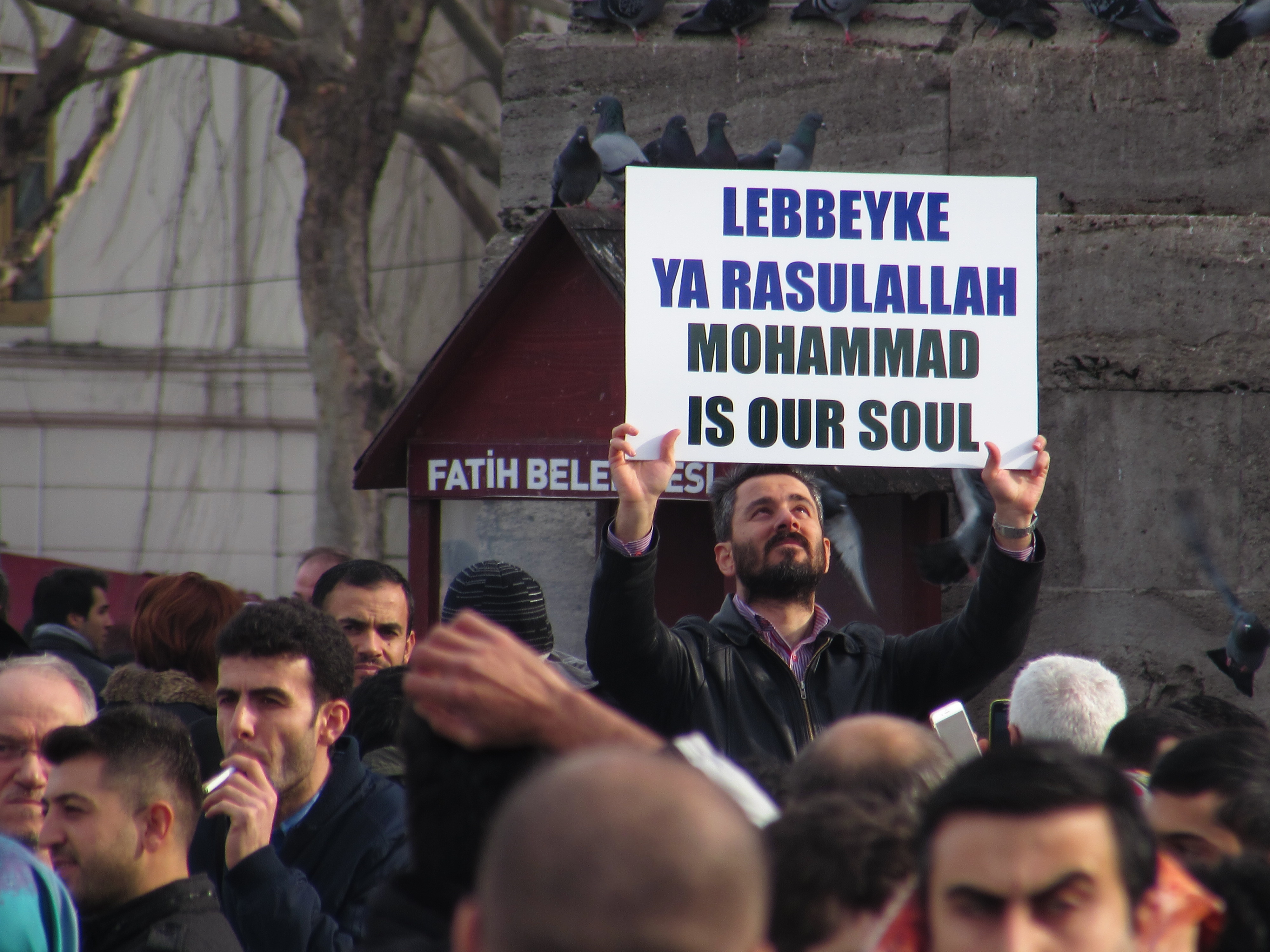 Protests near the Blue Mosque