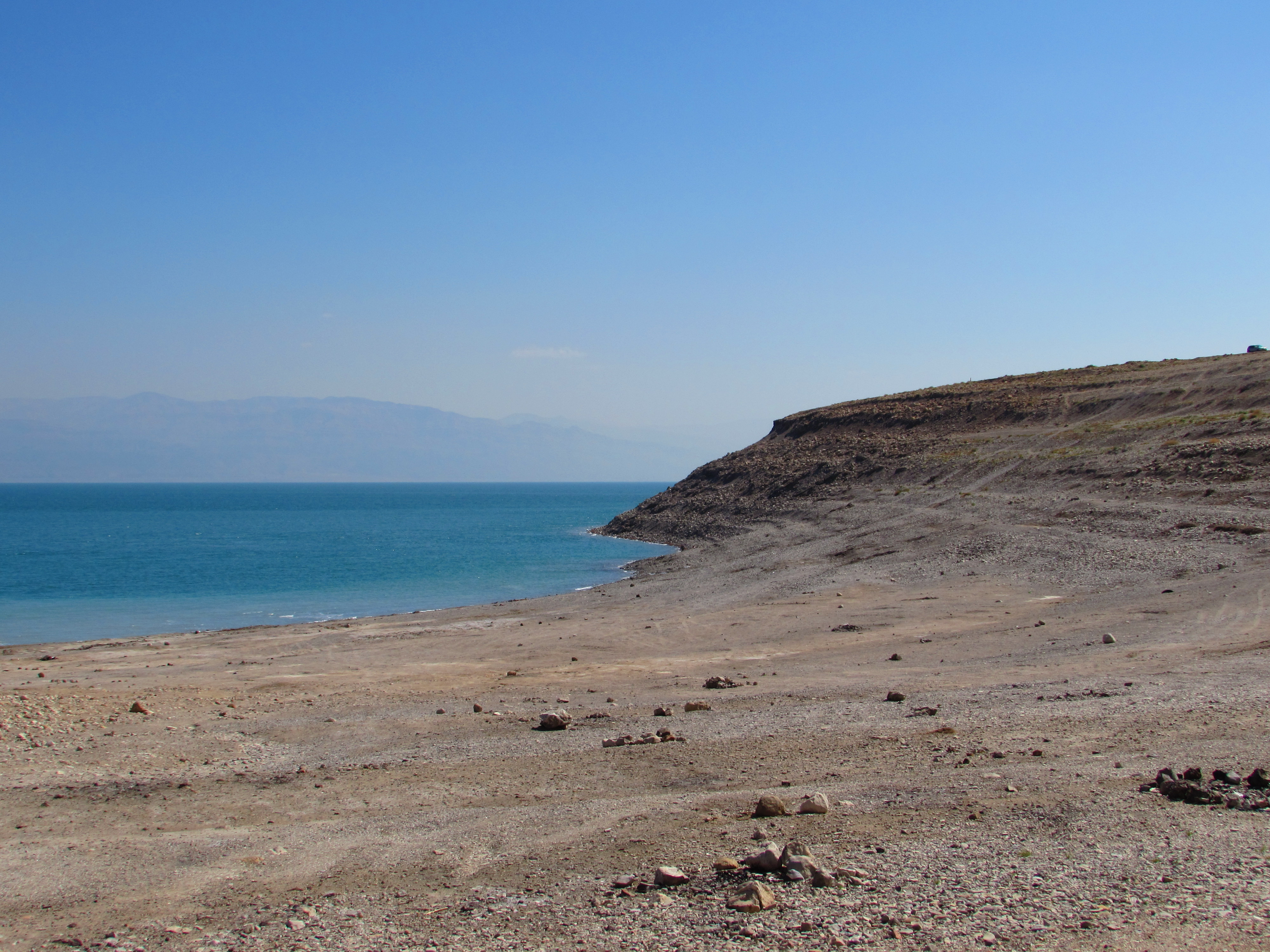 Where my friend Asaf and I camped beside the Dead Sea